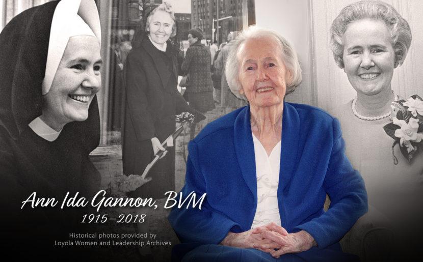 Former Mundelein College President Sister Ann Ida Gannon Dies At 103